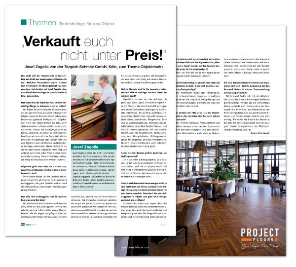 Interview mit Josef Zagolla zum Thema Bodenbeläge im Objektmarkt